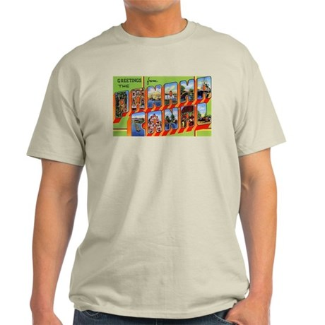 Panama Canal Greetings (Front) Light T-Shirt