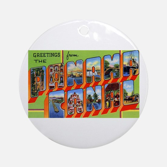 Panama Canal Greetings Ornament (Round)