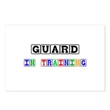 Guard In Training Postcards (Package of 8)