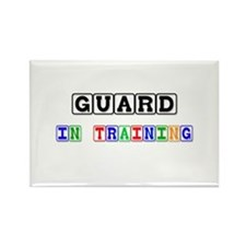 Guard In Training Rectangle Magnet
