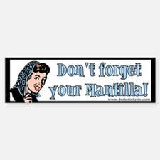 Mantilla Bumper Car Car Sticker
