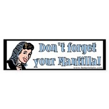 Mantilla Bumper Car Sticker