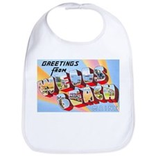 Wells Beach Maine Greetings Bib