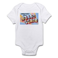 Wells Beach Maine Greetings Infant Bodysuit