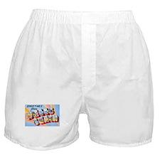 Wells Beach Maine Greetings Boxer Shorts