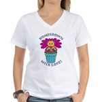 Homegrown with Love Women's V-Neck T-Shirt