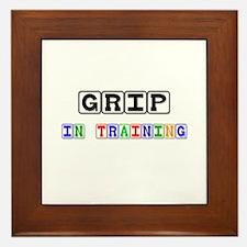 Grip In Training Framed Tile
