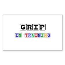 Grip In Training Rectangle Decal