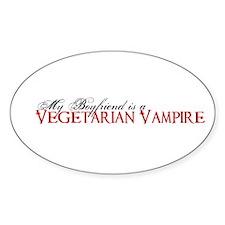 Vegetarian Vampire Twilight S Oval Decal