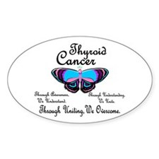 Butterfly Awareness 1 (Thyroid Cancer) Decal