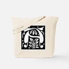 Art Nouveau Initial A Tote Bag