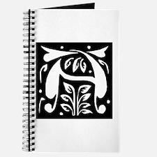 Art Nouveau Initial A Journal