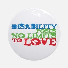 Disability + Love Ornament (Round)
