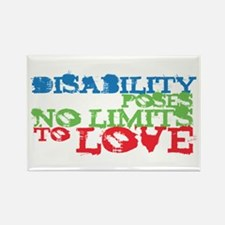 Disability + Love Rectangle Magnet