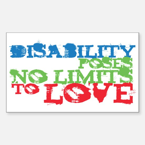 Disability + Love Rectangle Decal