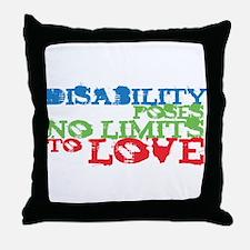 Disability + Love Throw Pillow