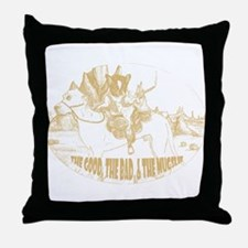 The Good, The Bad, and The Mu Throw Pillow