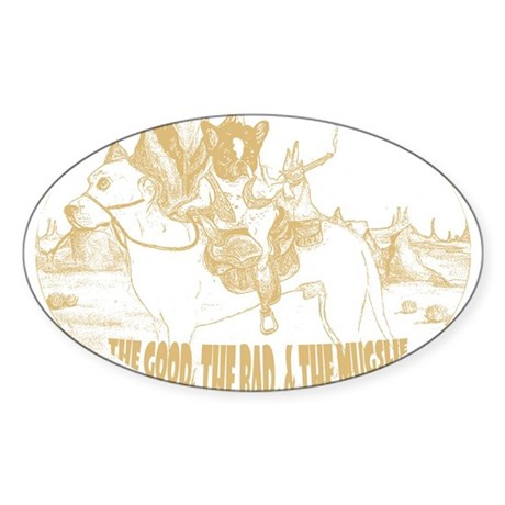 The Good, The Bad, and The Mu Oval Sticker