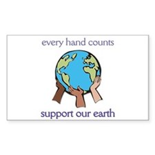 """Every Hand Counts...Support Our Earth"" Decal"