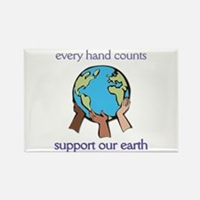 """""""Every Hand Counts...Support Our Earth"""" Rectangle"""