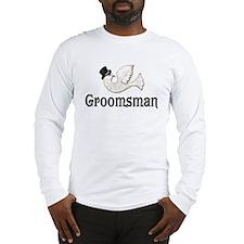 Dove & Top Hat - Groomsman Long Sleeve T-Shirt