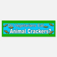 Funny Vegetarian bumper sticker