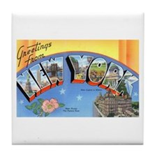 New York State Greetings Tile Coaster