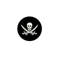 Calico Jack Pirate Mini Button (10 pack)