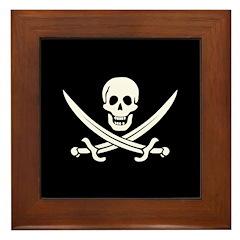 Calico Jack Pirate Framed Tile