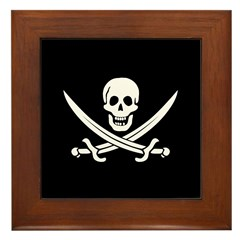 Calico Jack Pirate Framed Tile