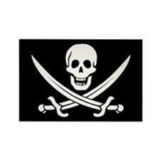 Calico Jack Pirate Rectangle Magnet (10 pack)