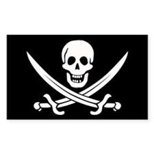 Calico Jack Pirate Decal