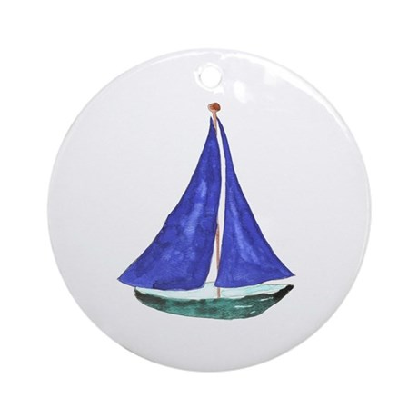 Sailboat Keepsake (round)