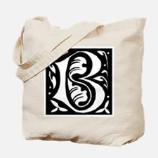 Art Nouveau Initial B Tote Bag
