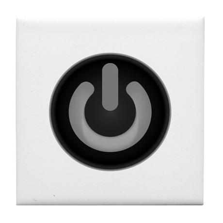 Power Symbol Tile Coaster