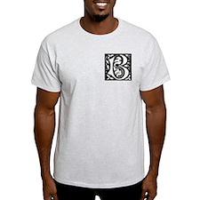 Art Nouveau Initial B Ash Grey T-Shirt