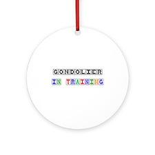 Gondolier In Training Ornament (Round)