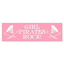 Girl Pirates Rock Bumper Bumper Sticker