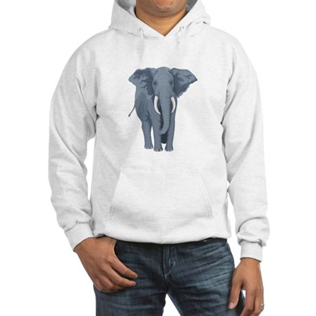 Elephant Front & Back Hooded Sweatshirt