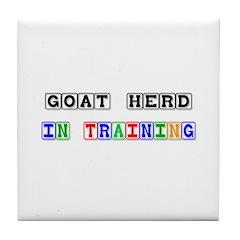 Goat Herd In Training Tile Coaster