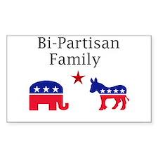 Bi-partisan Rectangle Decal