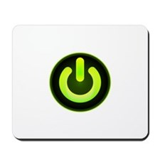 Power Symbol Green Mousepad