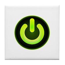 Power Symbol Green Tile Coaster