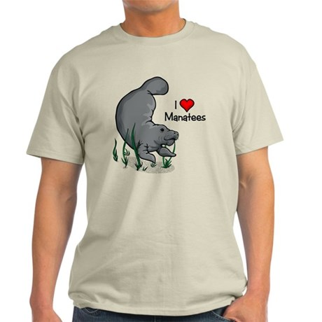 I Love Manatees Light T-Shirt