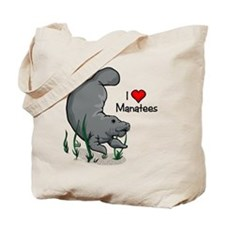 I Love Manatees Tote Bag