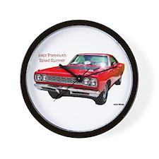 1967 Plymouth Road Runner Wall Clock