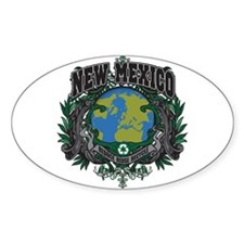 New Mexico Green Pride Oval Decal