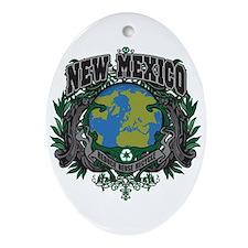 New Mexico Green Pride Oval Ornament