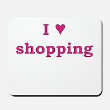 I Heart Shopping Mousepad