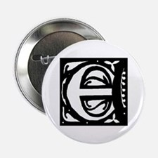Art Nouveau Initial E Button